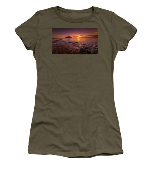 St Michael's Mount - January Sunset Women's T-Shirt