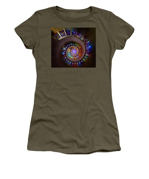 Stained Glass Spiral Women's T-Shirt