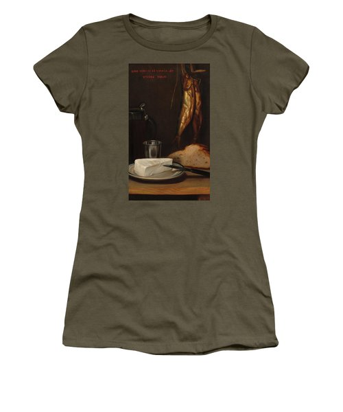 Still Life With Herring, Bread, And Cheese, 1858 Women's T-Shirt