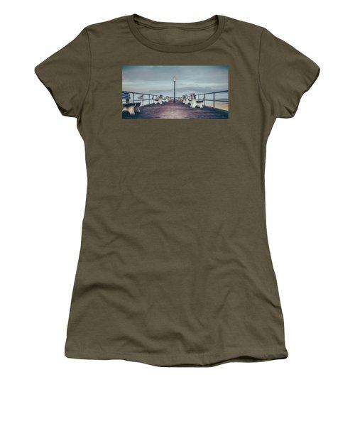 Stormy Boardwalk Women's T-Shirt