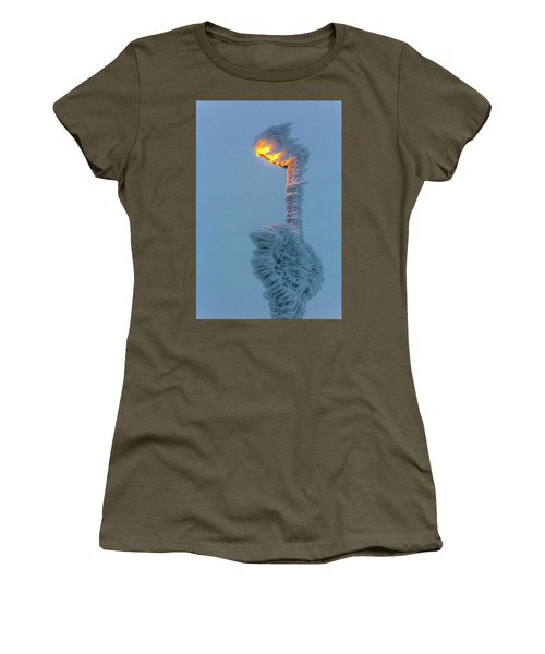Women's T-Shirt featuring the photograph streetlight on the Brocken, Harz by Andreas Levi