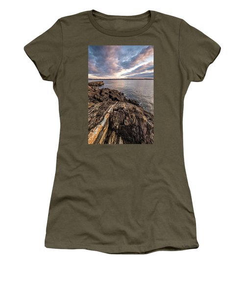 Striations. Leading Lines In The Rocks Women's T-Shirt