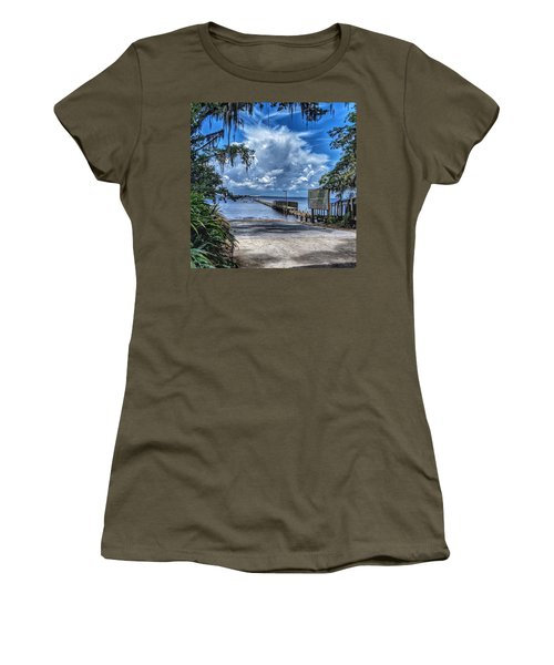 Strolling By The Dock Women's T-Shirt