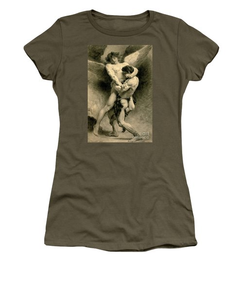 Study For Jacob Wrestling With The Angel, 1876 Women's T-Shirt