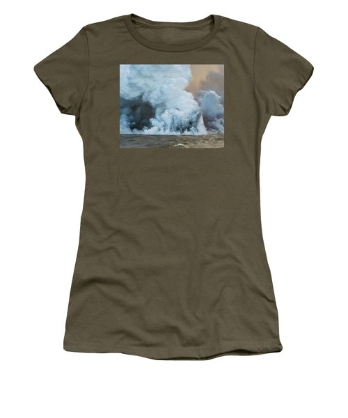 Women's T-Shirt featuring the photograph Submerged Lava Bomb by William Dickman