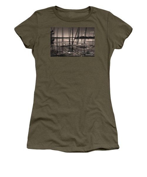 Women's T-Shirt featuring the photograph Sulfur Field by Mae Wertz