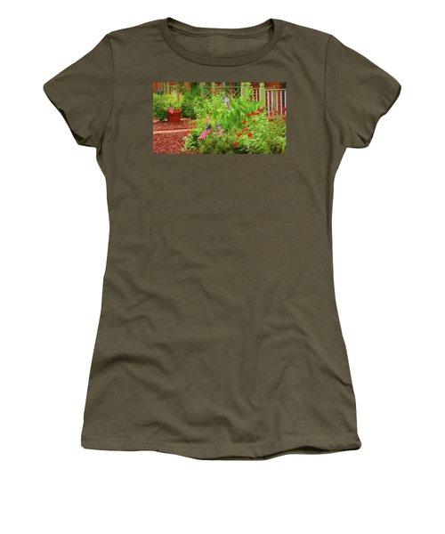 Summertime In The Flower Garden Women's T-Shirt