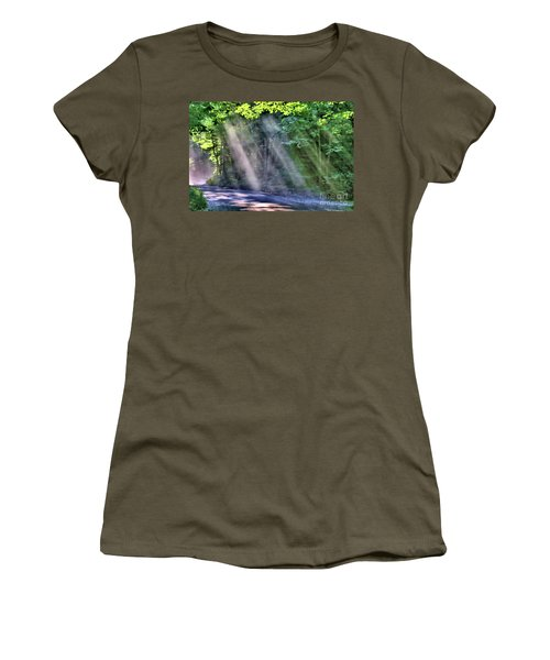 Women's T-Shirt featuring the photograph Sun Streaks by Debbie Stahre