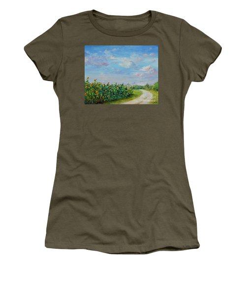 Sunflower Field Ptg Women's T-Shirt