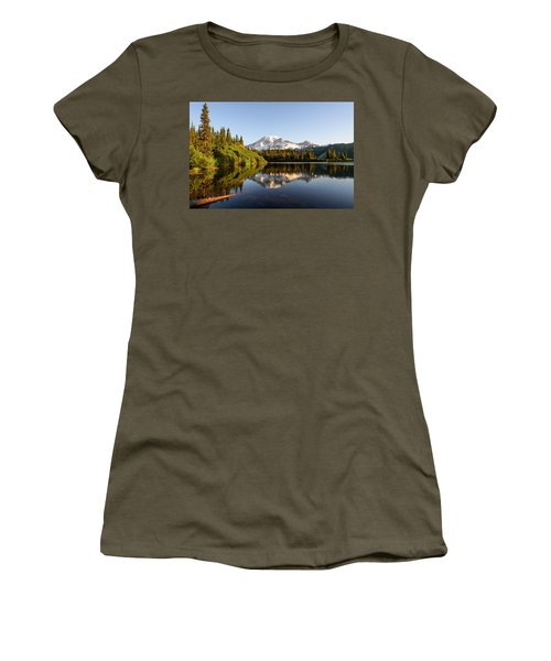 Sunrise In Mt Rainier  Women's T-Shirt