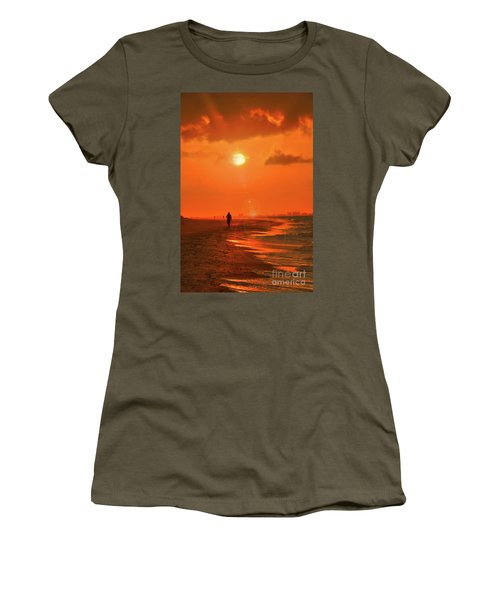 Sunrise Walk On Sanibel Island Women's T-Shirt
