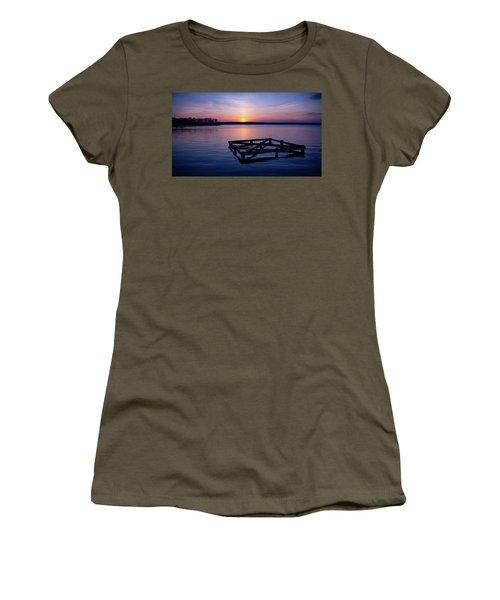 Sunset At The Reservoir  Women's T-Shirt