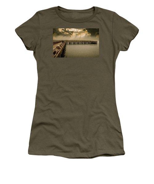 Sunset On Pier Women's T-Shirt