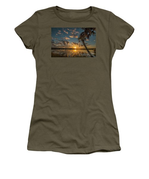 Sunset On The Pond Women's T-Shirt