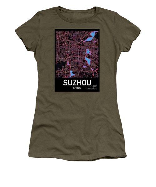 Suzhou City Map Women's T-Shirt