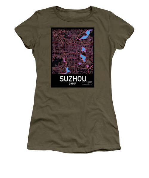 Suzhou City Map Women's T-Shirt