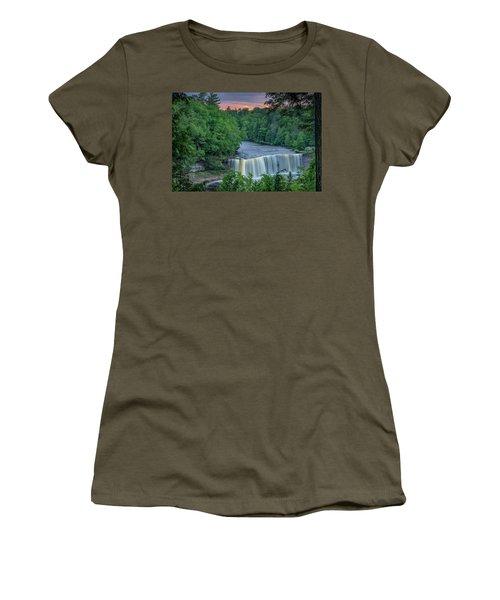Tahquamenon Falls Sunset. Women's T-Shirt