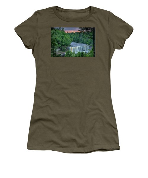 Tahquamenon Falls Sunset. Women's T-Shirt