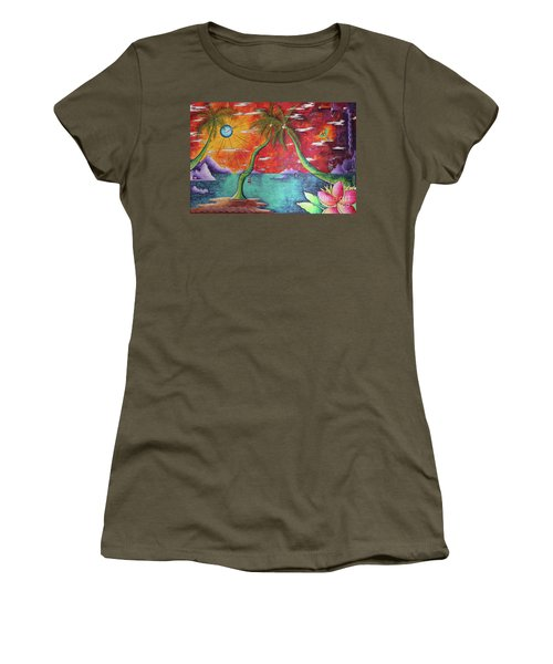 Take Me To The Tropics Tropical Surrealism Mad Wonderland By Megan Duncanson Women's T-Shirt