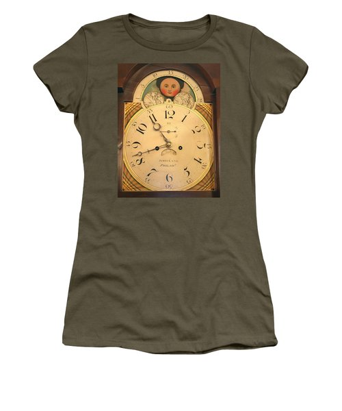 Tall Case Clock Face, Around 1816 Women's T-Shirt