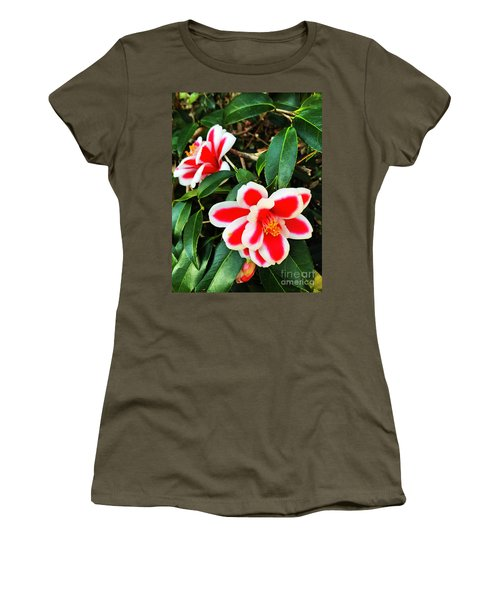 Women's T-Shirt featuring the photograph Tama Peacock Twins by Rick Locke