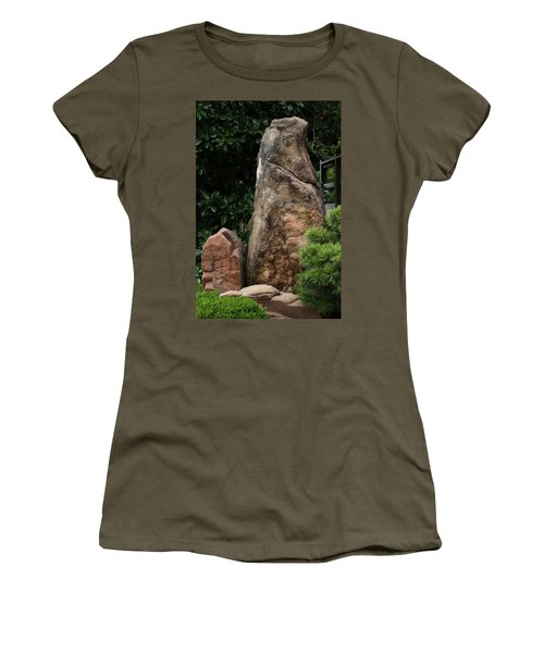 Women's T-Shirt featuring the photograph Teeny Weeny And Biggy Wiggy - Rock Formations by Debi Dalio