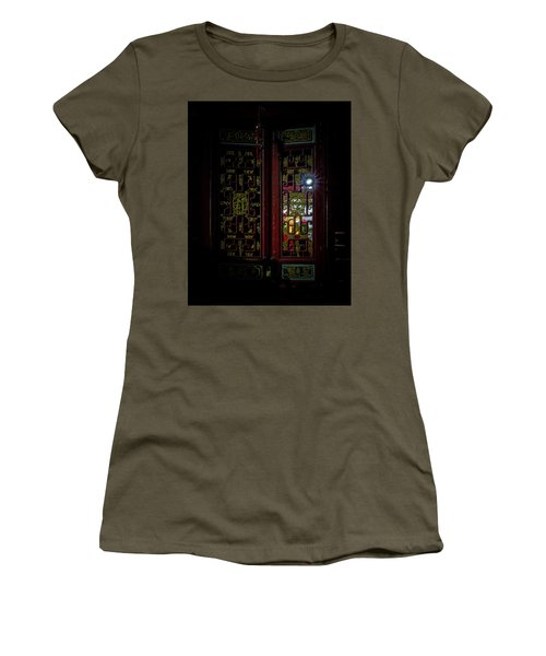 Women's T-Shirt featuring the photograph Temple Doorway On Old West Street by William Dickman