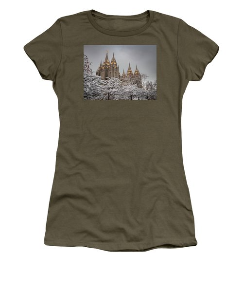 Temple In The Snow Women's T-Shirt