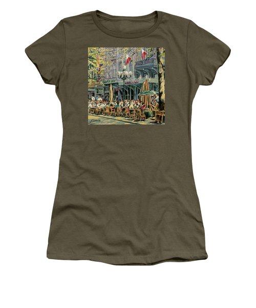 Terrace At The Vrijthof In Maastricht Women's T-Shirt