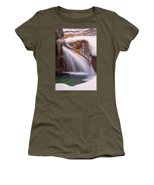 The Basin, Close Up In A Winter Storm Women's T-Shirt