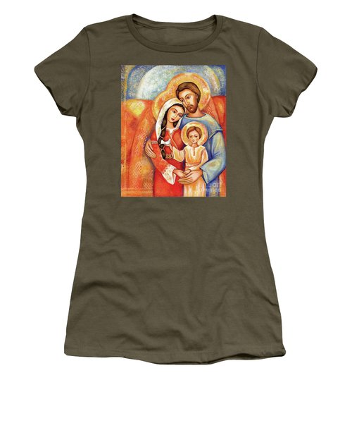 Women's T-Shirt featuring the painting The Holy Family by Eva Campbell