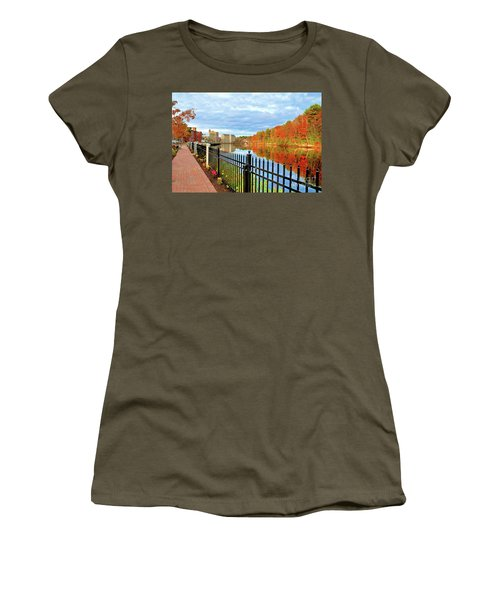 Women's T-Shirt featuring the photograph The Lamprey River by Debbie Stahre