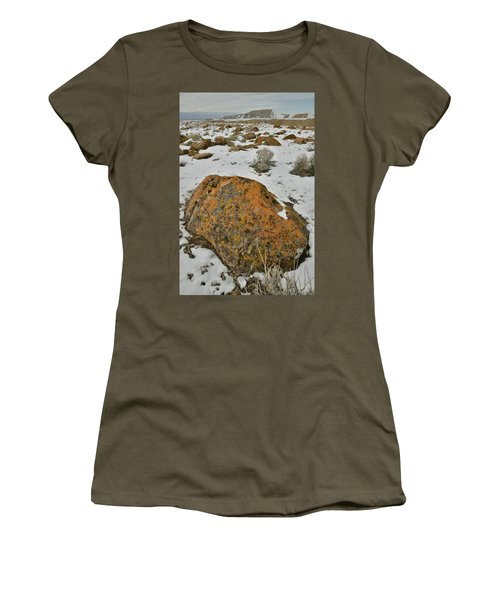 The Lichen Covered Boulders Of The Book Cliffs Women's T-Shirt