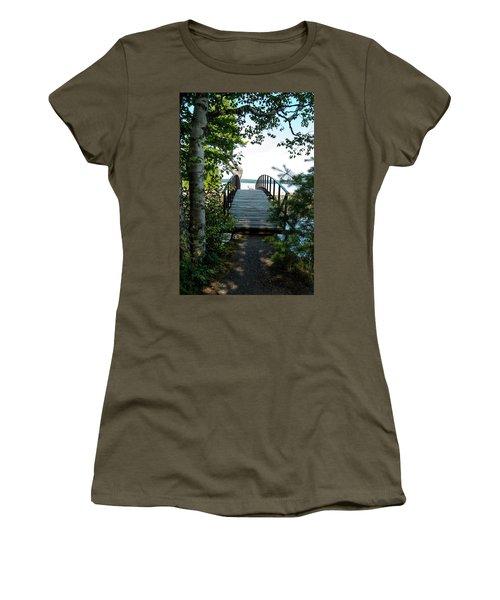 The Rock River Foot Bridge Women's T-Shirt