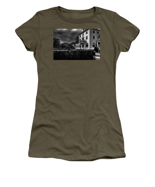 Women's T-Shirt (Athletic Fit) featuring the photograph The Stanley Hotel by James L Bartlett