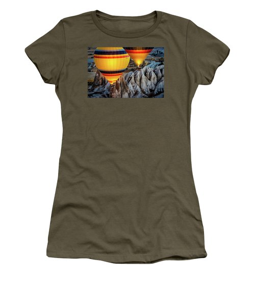 Women's T-Shirt featuring the photograph The Yellow Balloons by Francisco Gomez