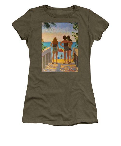 Three Beach Girls Women's T-Shirt