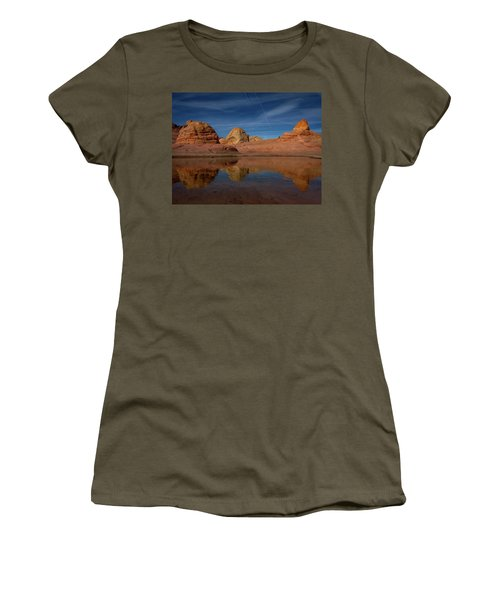 Women's T-Shirt featuring the photograph Three Pillars by Edgars Erglis