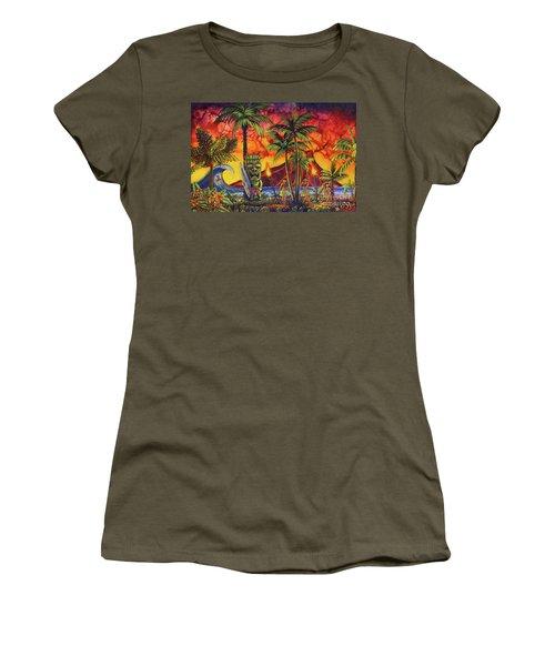 Tiki Surf A Lot Women's T-Shirt