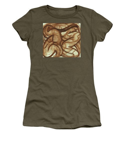 Tommervik - Abstract Hawaiian Woman Drawing - Underpainting Women's T-Shirt