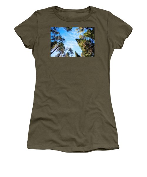 Women's T-Shirt featuring the photograph Towering Pines by Scott Kemper