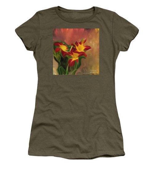 Trio Of Day Lilies Women's T-Shirt