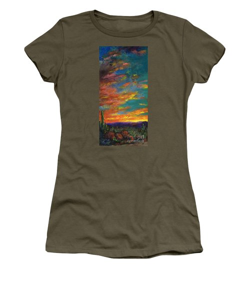 Triptych 1 Desert Sunset Women's T-Shirt