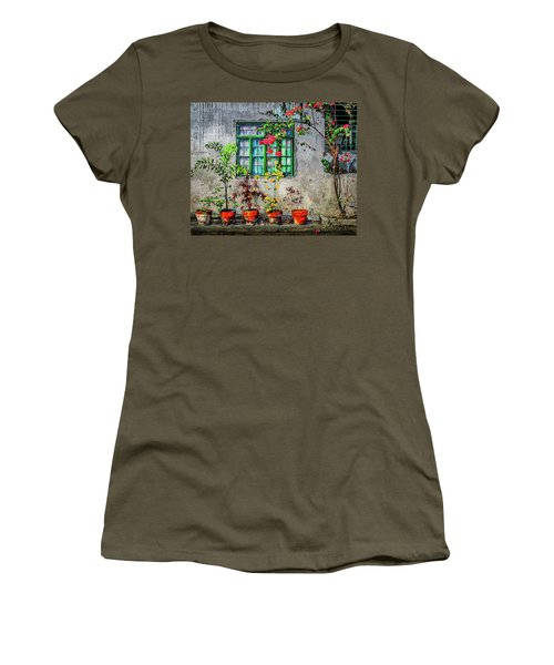 Women's T-Shirt featuring the photograph Tropical Wall by Michael Arend