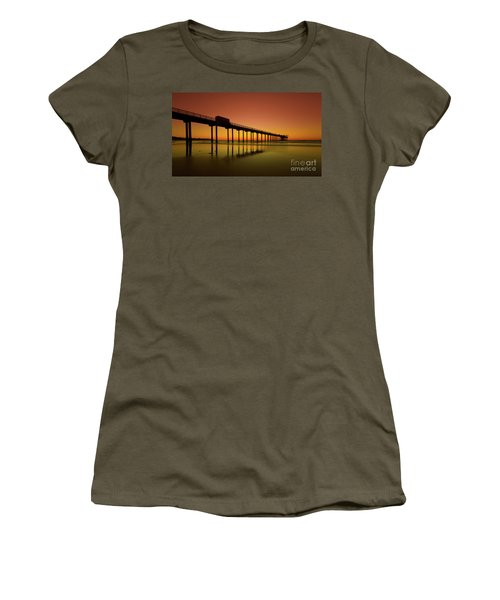 Twilight On The Beach Scripps Pier La Jolla San Diego Ca Women's T-Shirt