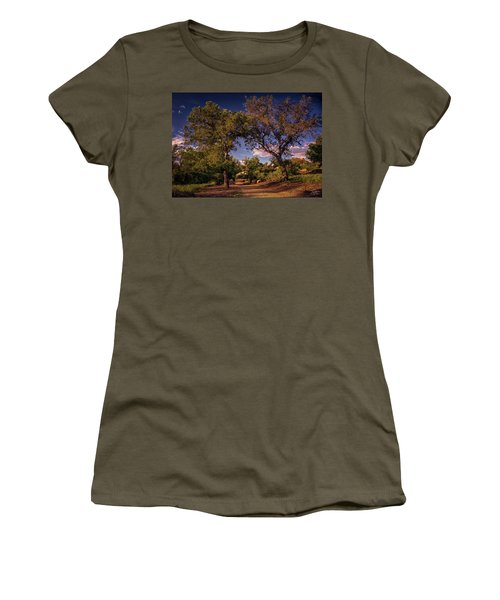 Two Old Oak Trees At Sunset Women's T-Shirt