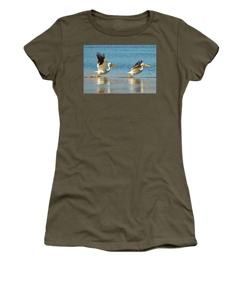 Two Pelicans Taking Off Women's T-Shirt