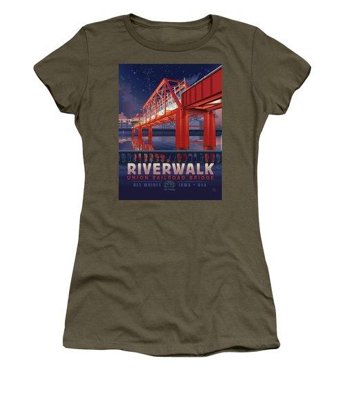 Union Railroad Bridge - Riverwalk Women's T-Shirt