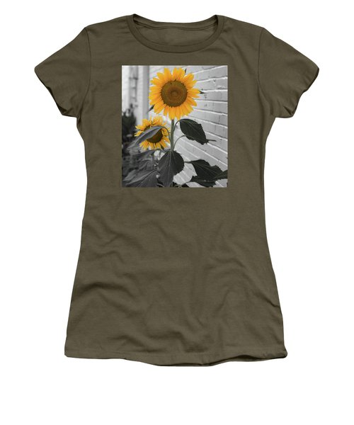 Urban Sunflower - Black And White Women's T-Shirt