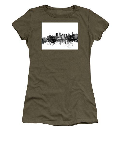 Vancouver Skyline Bw Women's T-Shirt